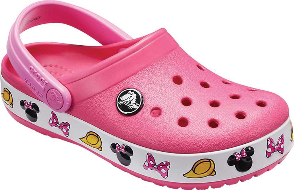 Infant Girls' Crocs Crocband Minnie Clog Kids, Paradise Pink, large, image 1