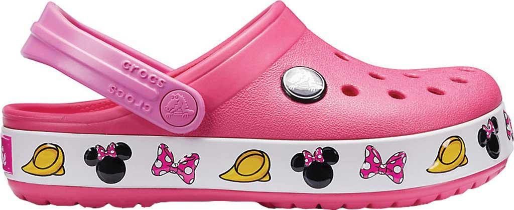 Infant Girls' Crocs Crocband Minnie Clog Kids, Paradise Pink, large, image 2