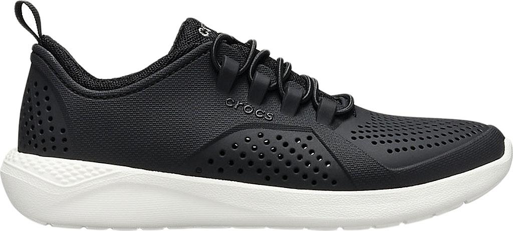 Children's Crocs LiteRide Pacer Sneaker Junior, Black/White, large, image 2
