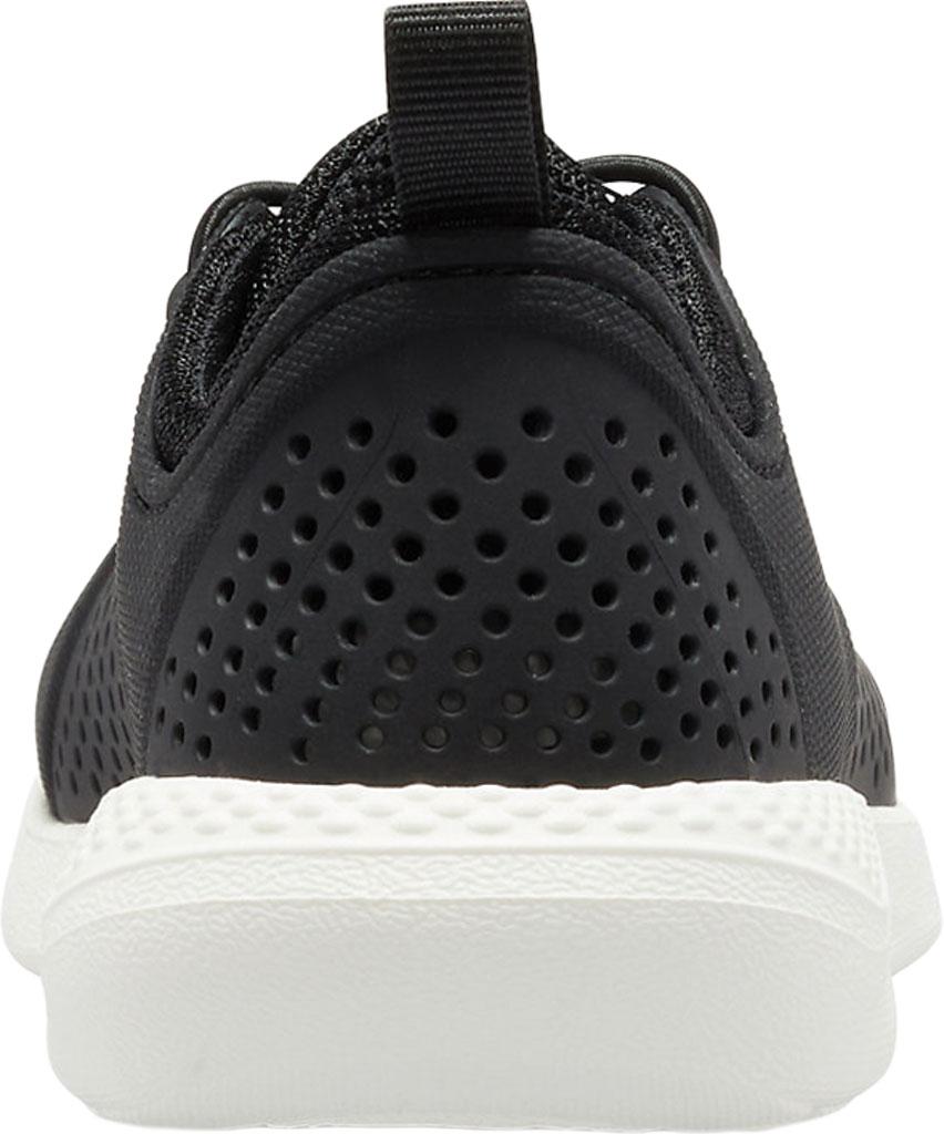 Children's Crocs LiteRide Pacer Sneaker Junior, Black/White, large, image 3