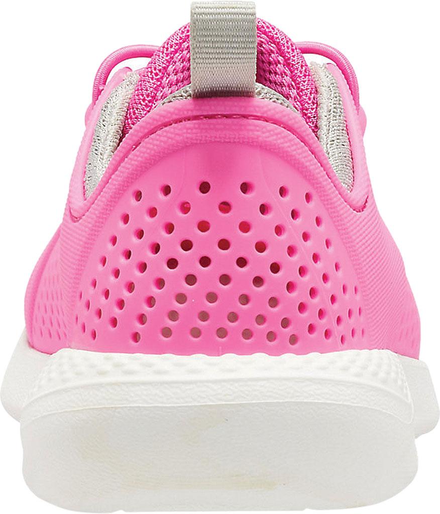 Children's Crocs LiteRide Pacer Sneaker Junior, Electric Pink/White, large, image 3