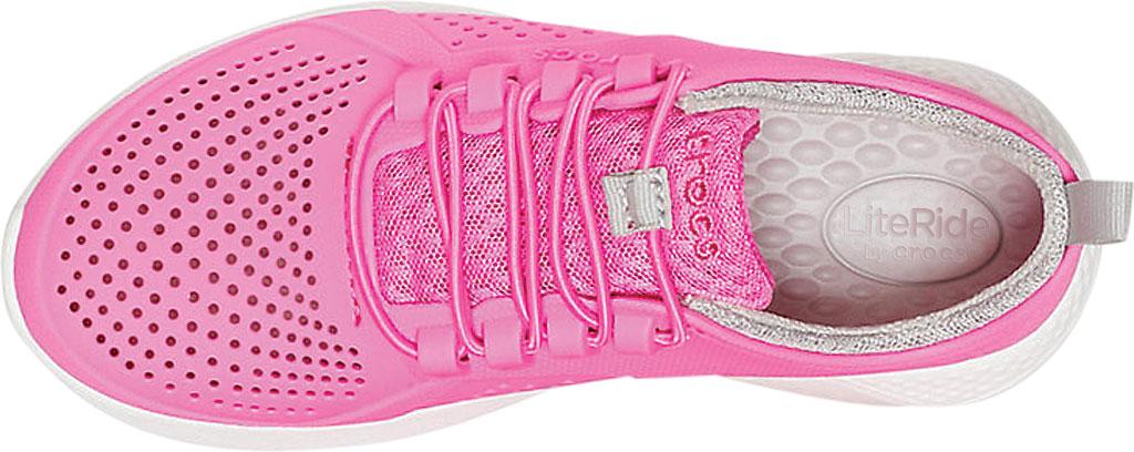 Children's Crocs LiteRide Pacer Sneaker Junior, Electric Pink/White, large, image 4