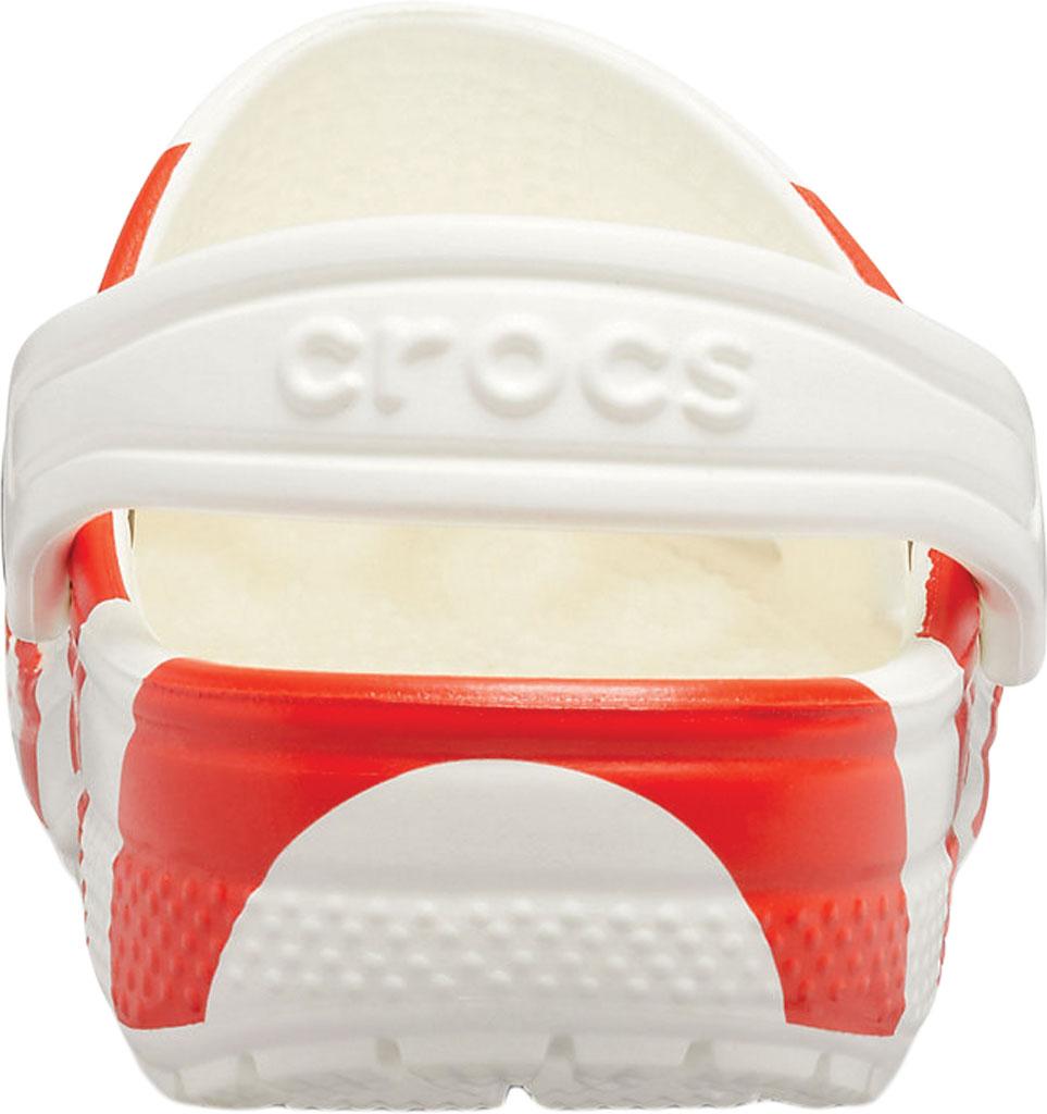Infant Crocs Classic American Flag Clog Kids, White/Multi, large, image 3