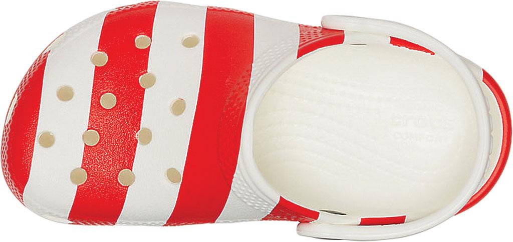 Infant Crocs Classic American Flag Clog Kids, White/Multi, large, image 4
