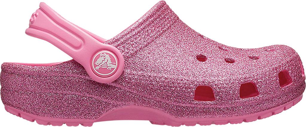 Children's Crocs Classic Metallic Glitter Clog Junior, Pink Lemonade, large, image 2
