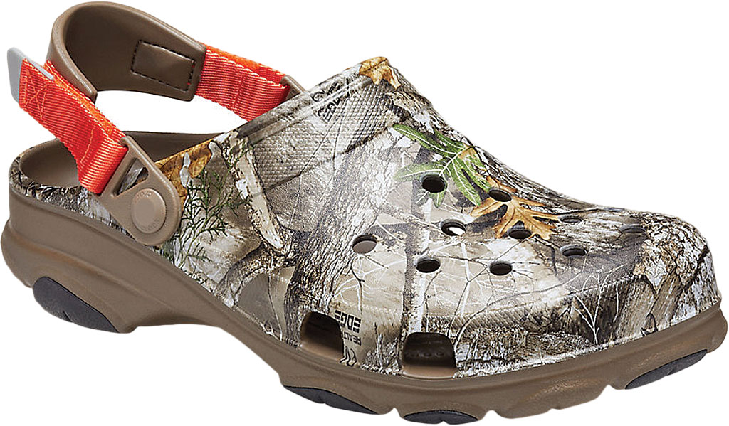 Men's Crocs Classic All Terrain Realtree Edge Clog, Walnut, large, image 1