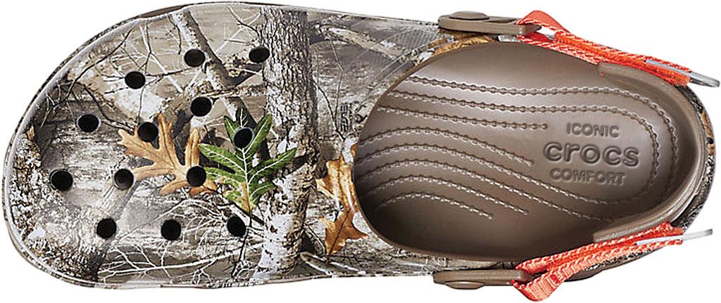 Men's Crocs Classic All Terrain Realtree Edge Clog, Walnut, large, image 4