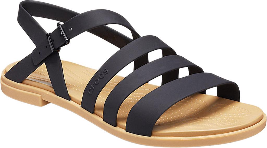 Women's Crocs Tulum Strappy Sandal, Black/Tan, large, image 1
