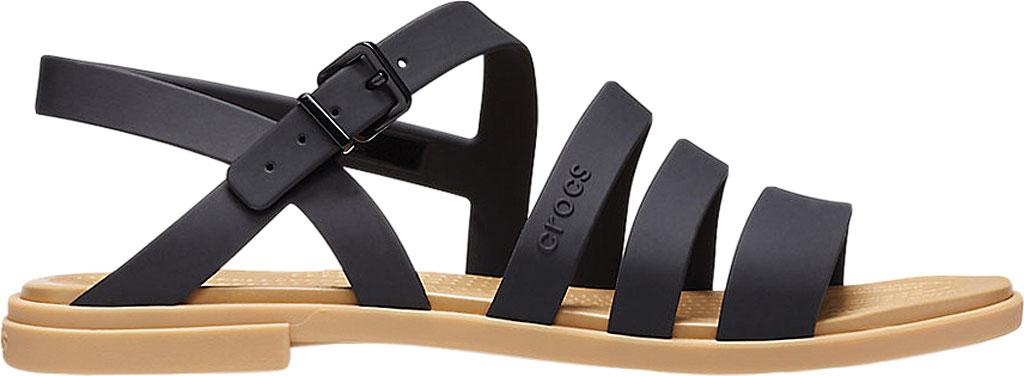 Women's Crocs Tulum Strappy Sandal, Black/Tan, large, image 2