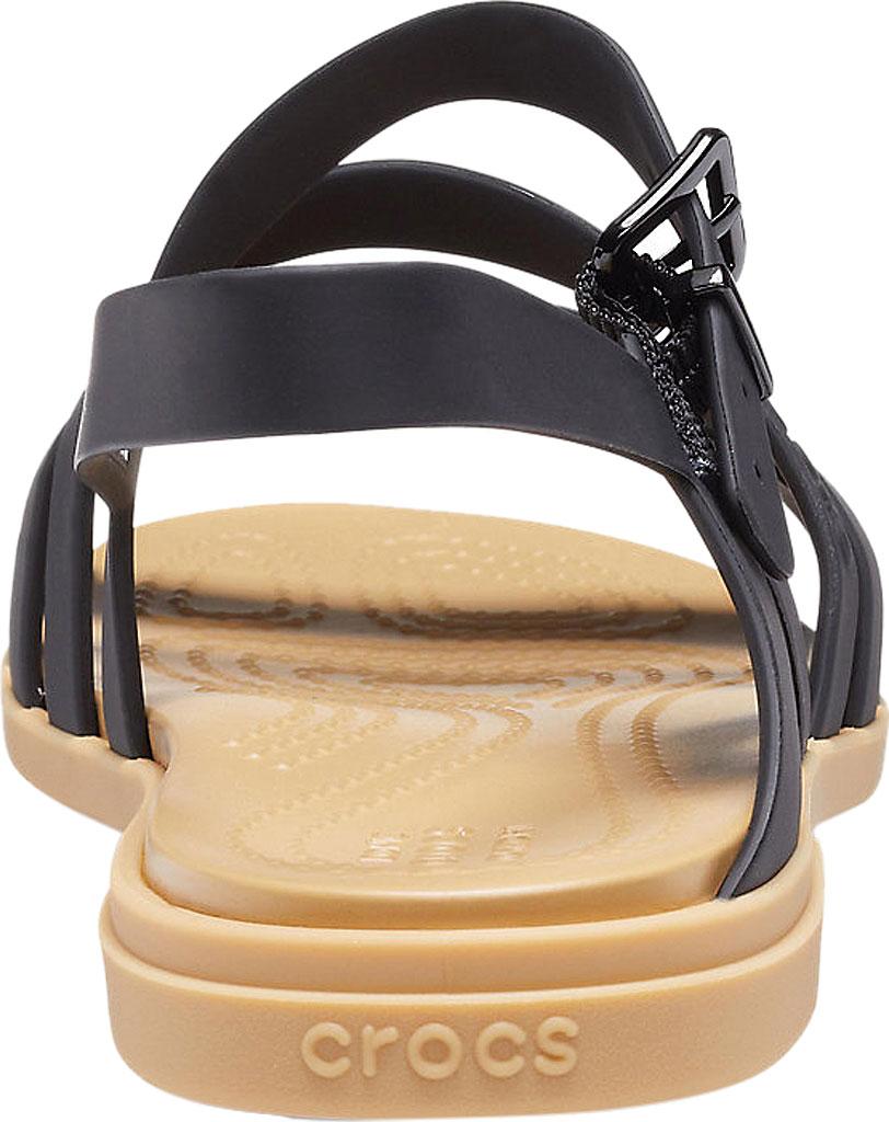 Women's Crocs Tulum Strappy Sandal, Black/Tan, large, image 3