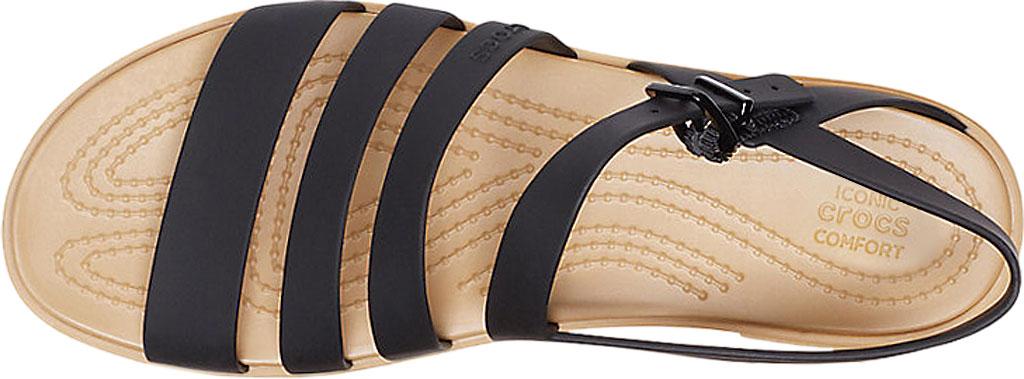 Women's Crocs Tulum Strappy Sandal, Black/Tan, large, image 4