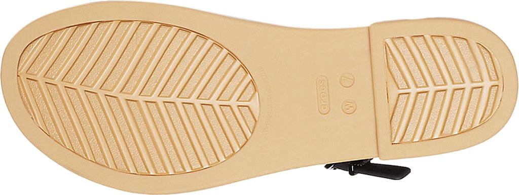 Women's Crocs Tulum Strappy Sandal, Black/Tan, large, image 5