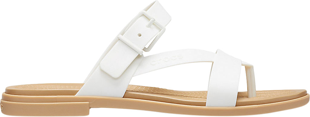 Women's Crocs Tulum Toe Post Sandal, Oyster/Tan, large, image 2