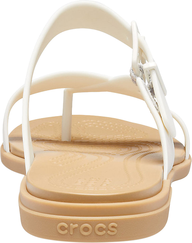 Women's Crocs Tulum Toe Post Sandal, Oyster/Tan, large, image 3