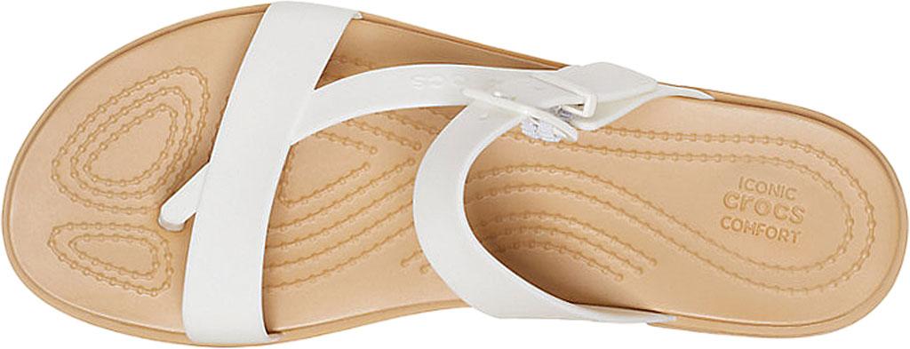 Women's Crocs Tulum Toe Post Sandal, Oyster/Tan, large, image 4