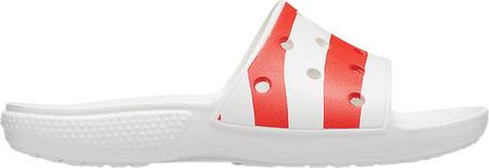 Crocs Classic American Flag Slide, White/Multi, large, image 2