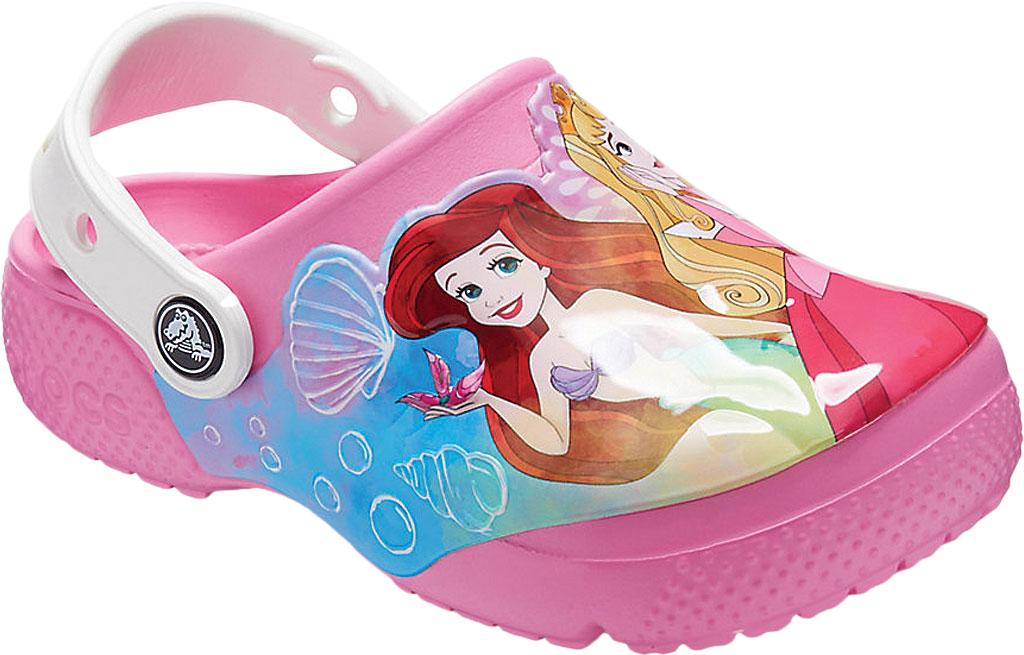 Girls' Crocs Fun Lab Disney Princess Patch Clog Juniors, Pink Lemonade, large, image 1