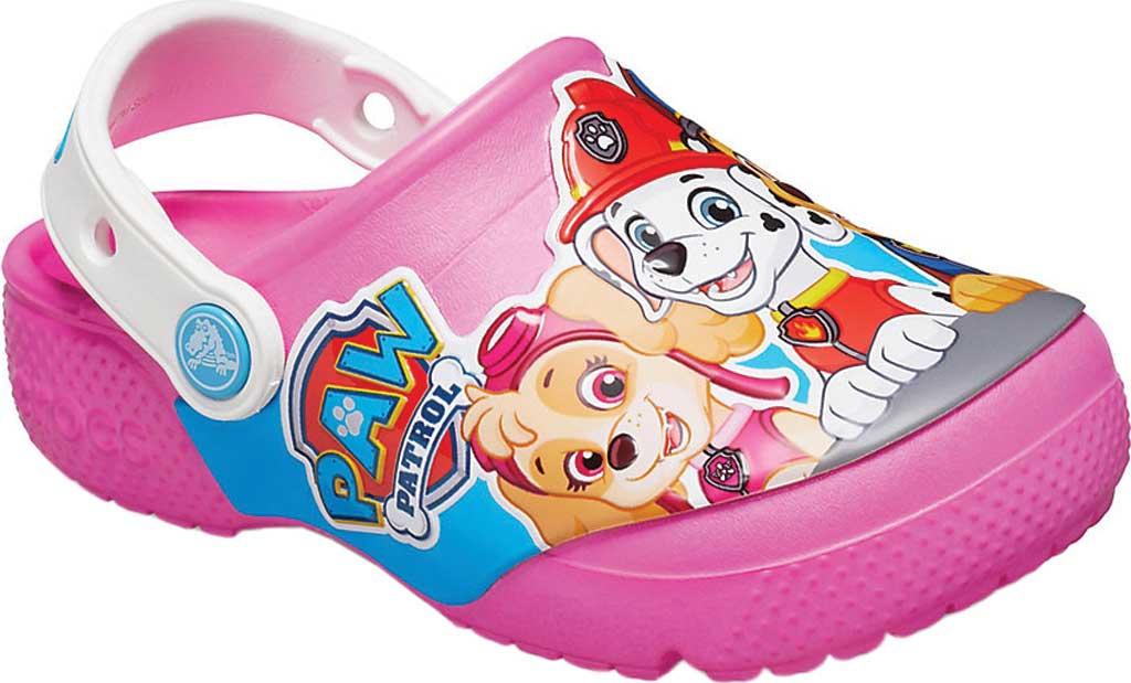 Infant Crocs Fun Lab Paw Patrol Clog Kids, Electric Pink, large, image 1