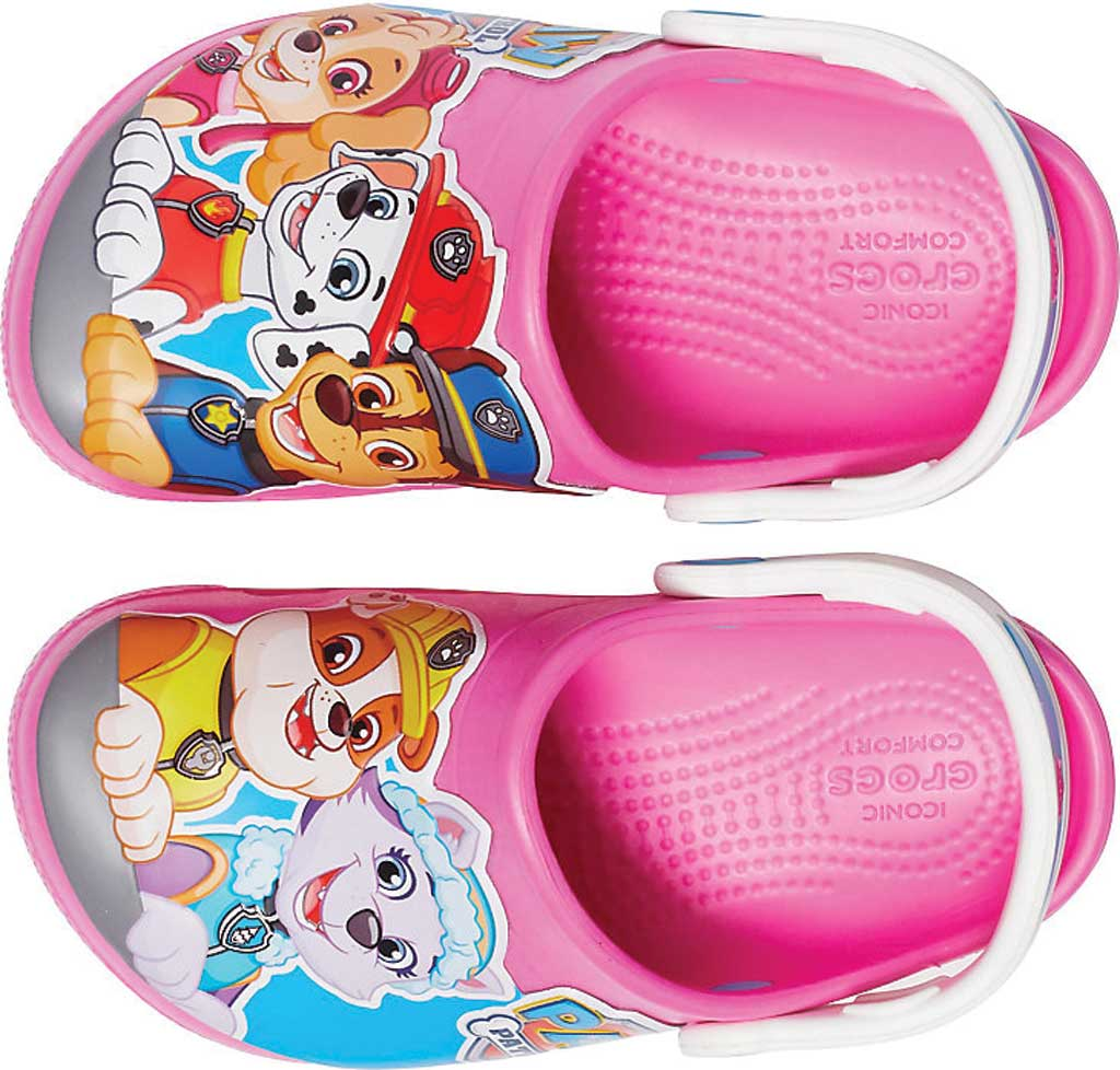 Children's Crocs Fun Lab Paw Patrol Clog Juniors, Electric Pink, large, image 4