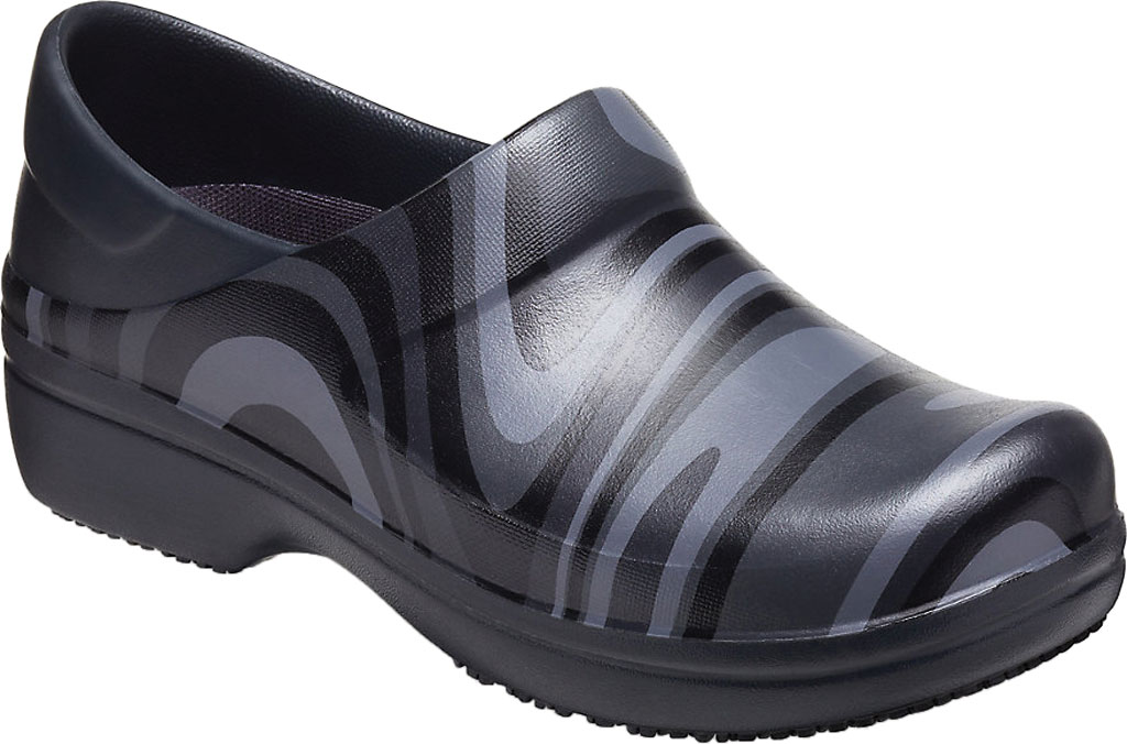 Women's Crocs Neria Pro II Graphic Closed-Back Clog, Black/New Wave, large, image 1