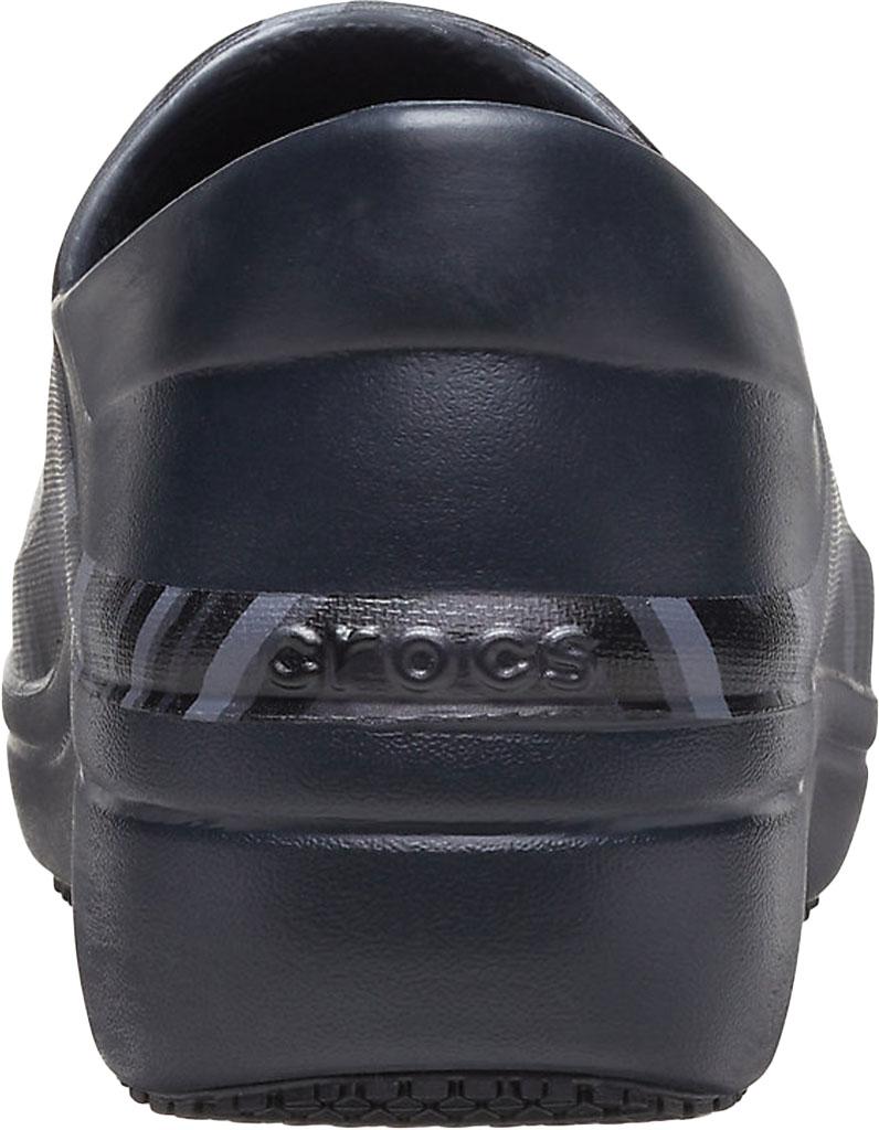 Women's Crocs Neria Pro II Graphic Closed-Back Clog, Black/New Wave, large, image 3