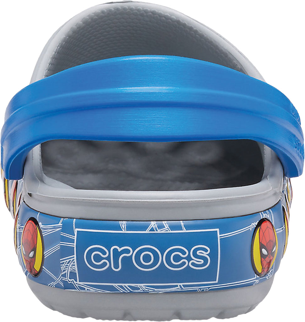 Infant Boys' Crocs Fun Lab Spider Man Light Up Clog Kids, Light Grey, large, image 3