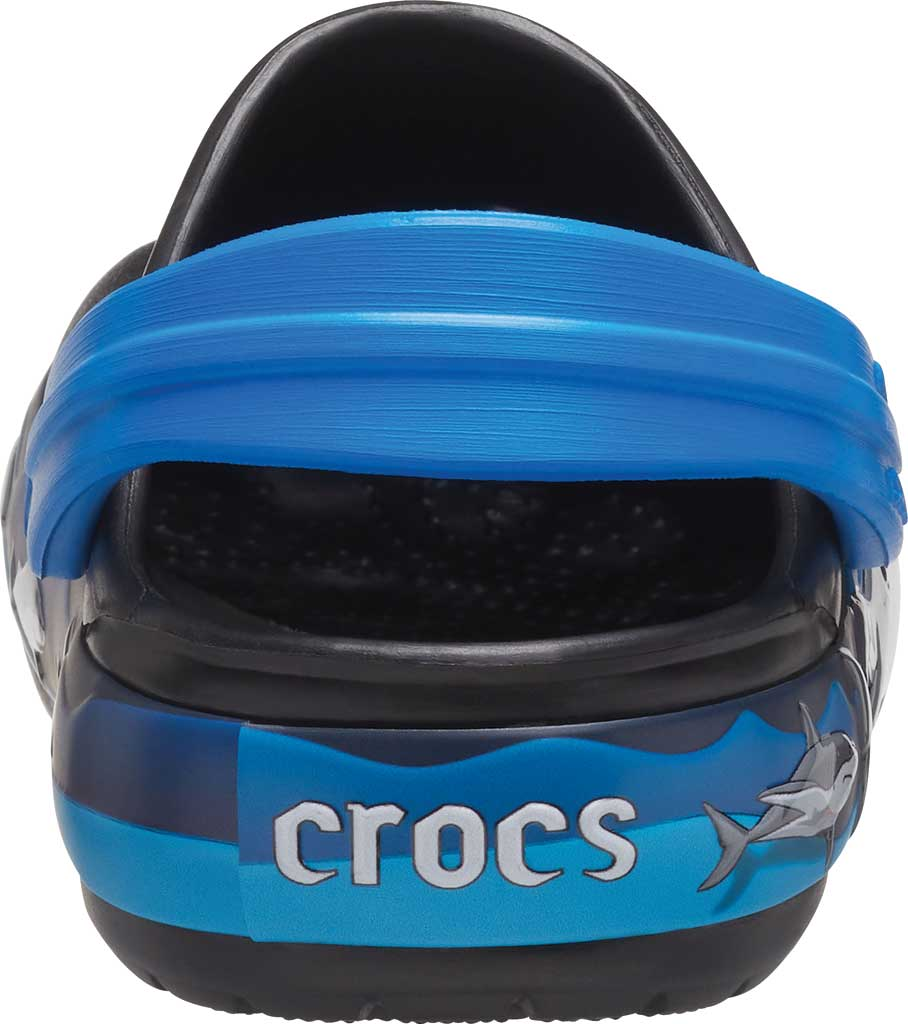 Children's Crocs Fun Lab Shark Lights Clog Juniors, Black, large, image 4