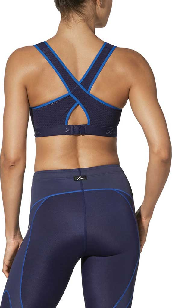 Women's CW-X Racer Back Xtra Support III Sports Bra, Navy/Blue, large, image 2
