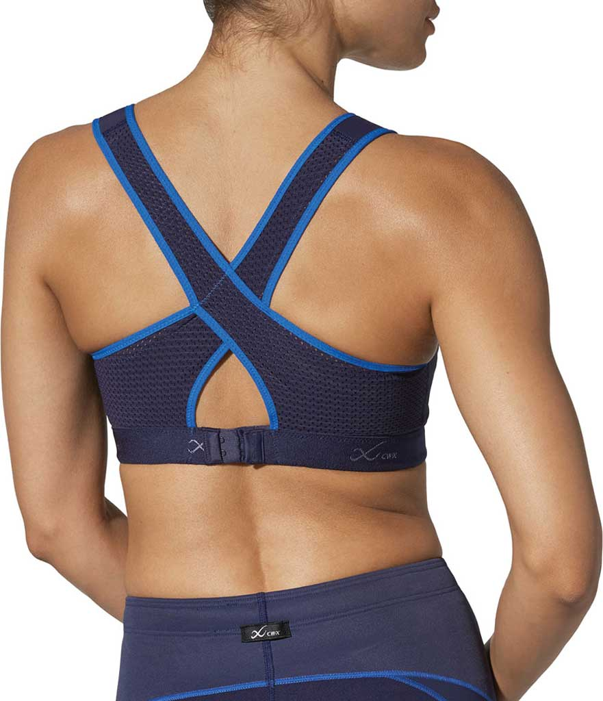 Women's CW-X Racer Back Xtra Support III Sports Bra, Navy/Blue, large, image 3