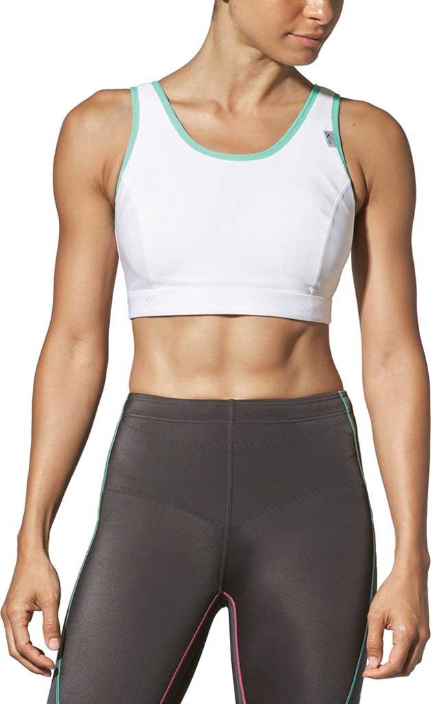 Women's CW-X High-Impact Stabilyx Running Bra, White/Turquoise, large, image 1
