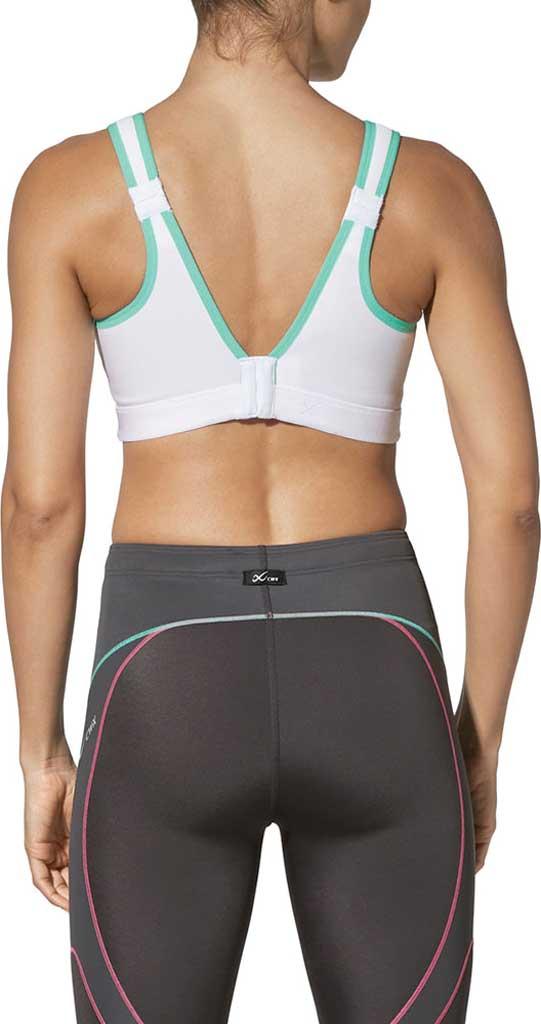 Women's CW-X High-Impact Stabilyx Running Bra, White/Turquoise, large, image 2