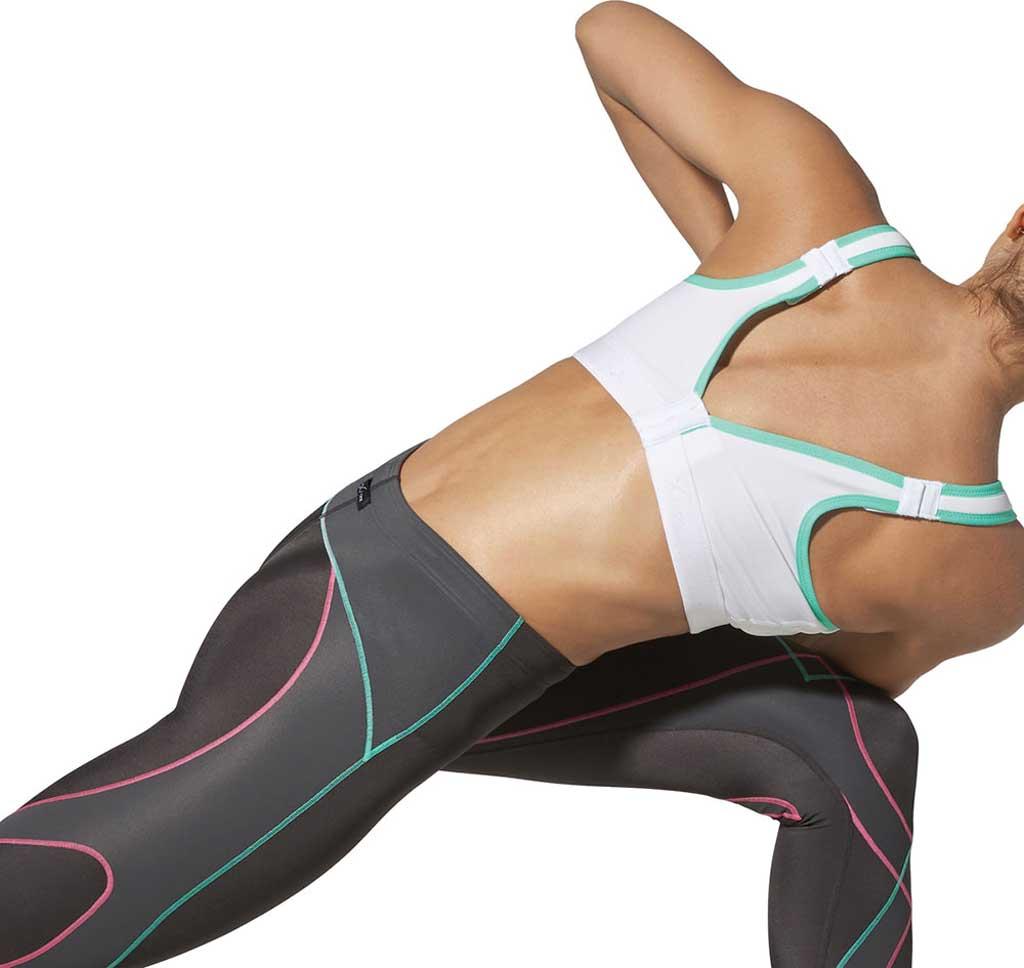Women's CW-X High-Impact Stabilyx Running Bra, White/Turquoise, large, image 3