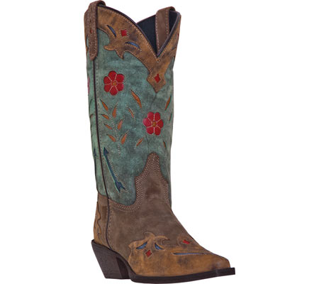 Women's Laredo Miss Kate 52138, Brown/Teal Leather, large, image 1