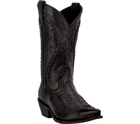 Men's Laredo Laramie Cowboy Boot 68430, Black Leather, large, image 1