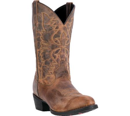Men's Laredo Birchwood Cowboy Boot 68452, Tan Distressed Leather, large, image 1