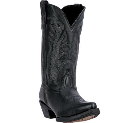 Women's Laredo Maddie Cowgirl Boot 51110, Black Leather, large, image 1