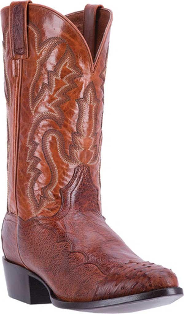 Men's Dan Post Boots Pugh Cowboy Boot DPP5210, Cognac Ostrich, large, image 1