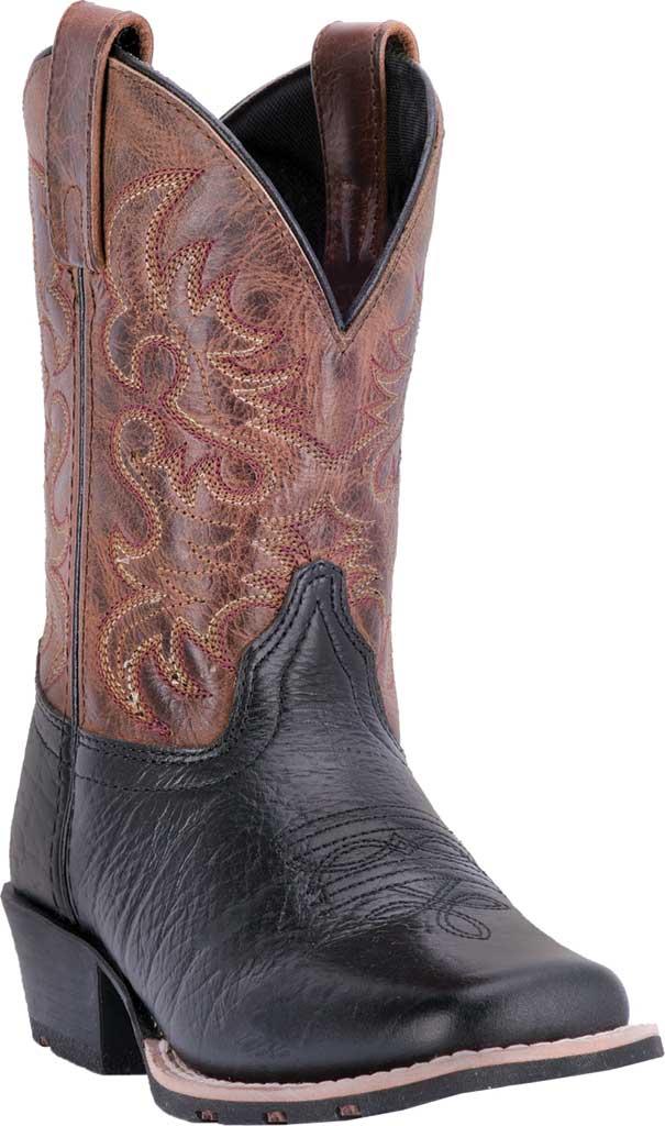 Children's Dan Post Boots Little River Cowboy Boot DPC2944 Children, Black/Brown Leather, large, image 1