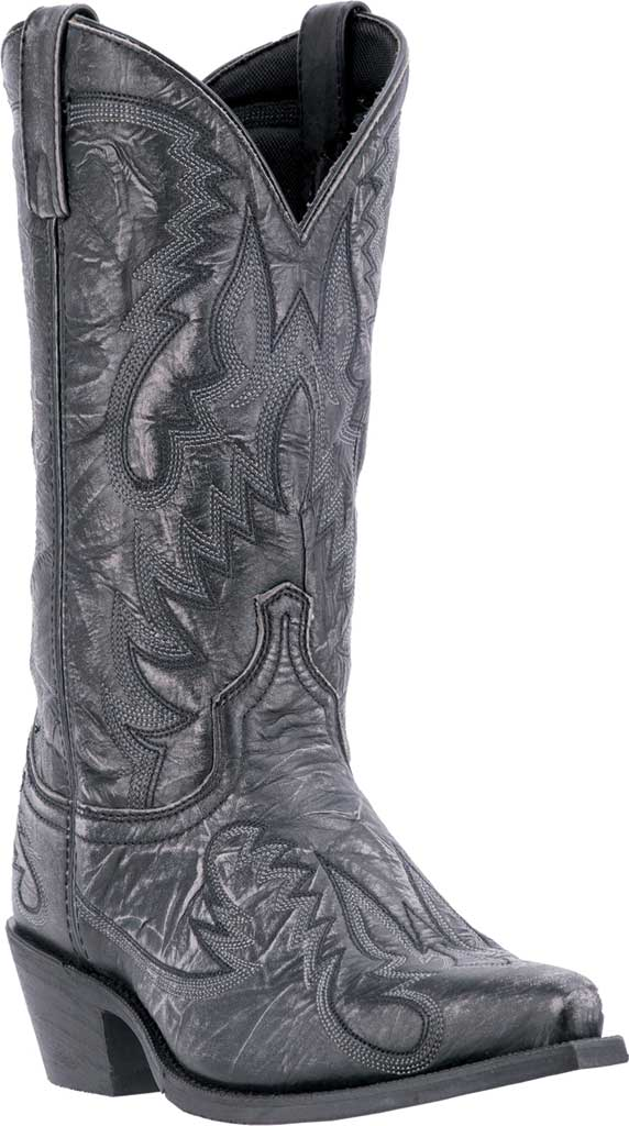Men's Laredo Garrett Cowboy Boot 68407, Black Distressed Leather, large, image 1