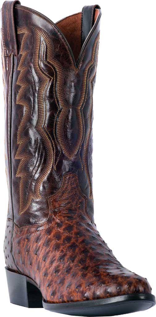 Men's Dan Post Boots Pershing Cowboy Boot DP3016, Brass Ostrich, large, image 1