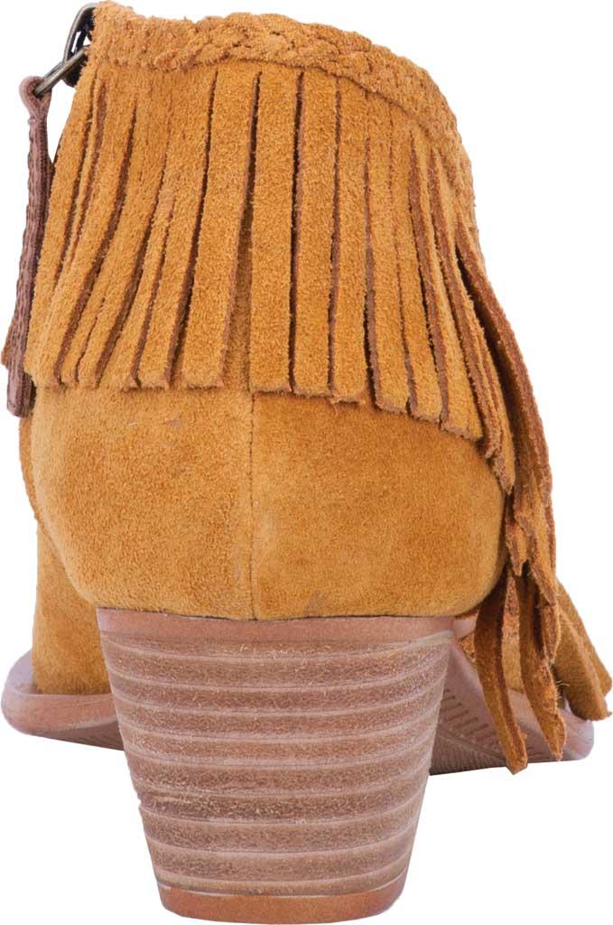 Women's Dingo Kindred Spirit Western Fringe Bootie DI 110, Mustard Leather, large, image 4