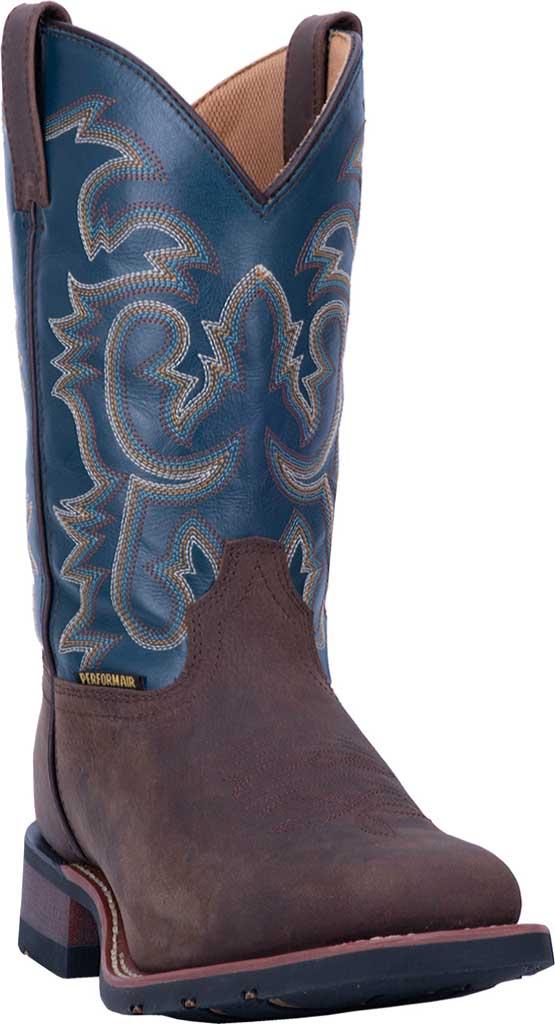 Men's Laredo Hamilton Cowboy Boot 7936, Tan/Blue Leather, large, image 1