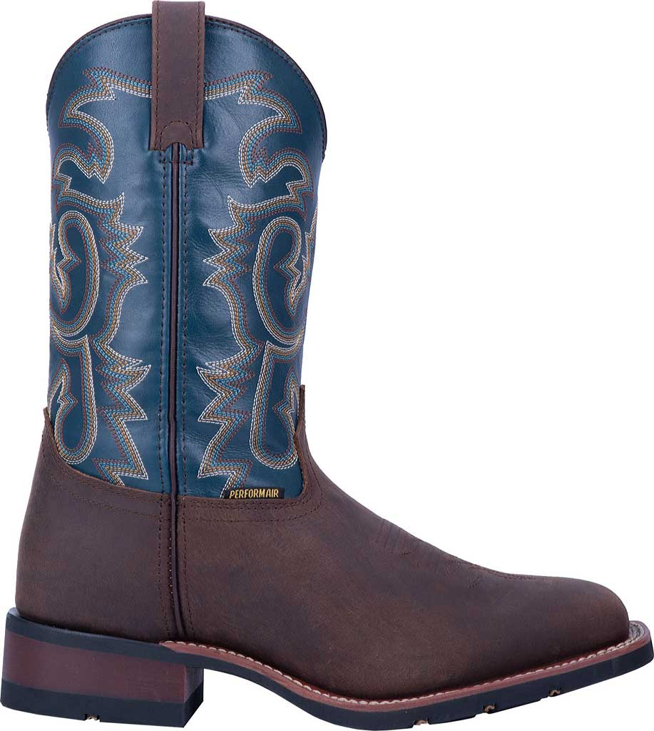 Men's Laredo Hamilton Cowboy Boot 7936, Tan/Blue Leather, large, image 2