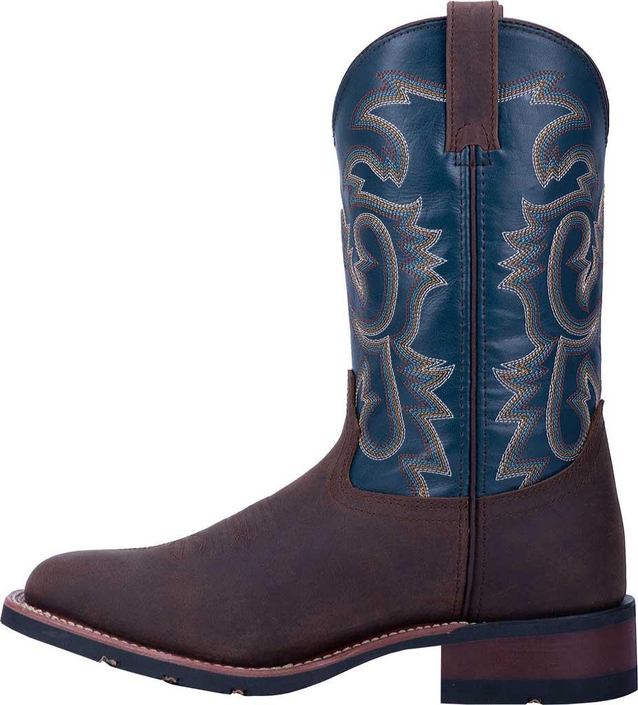 Men's Laredo Hamilton Cowboy Boot 7936, Tan/Blue Leather, large, image 3