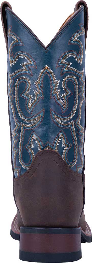 Men's Laredo Hamilton Cowboy Boot 7936, Tan/Blue Leather, large, image 4