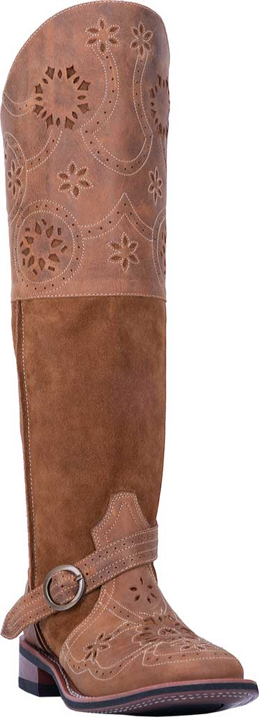 Women's Laredo Caught You Lookin' Riding Boot 5684, Tan Leather/Suede, large, image 1