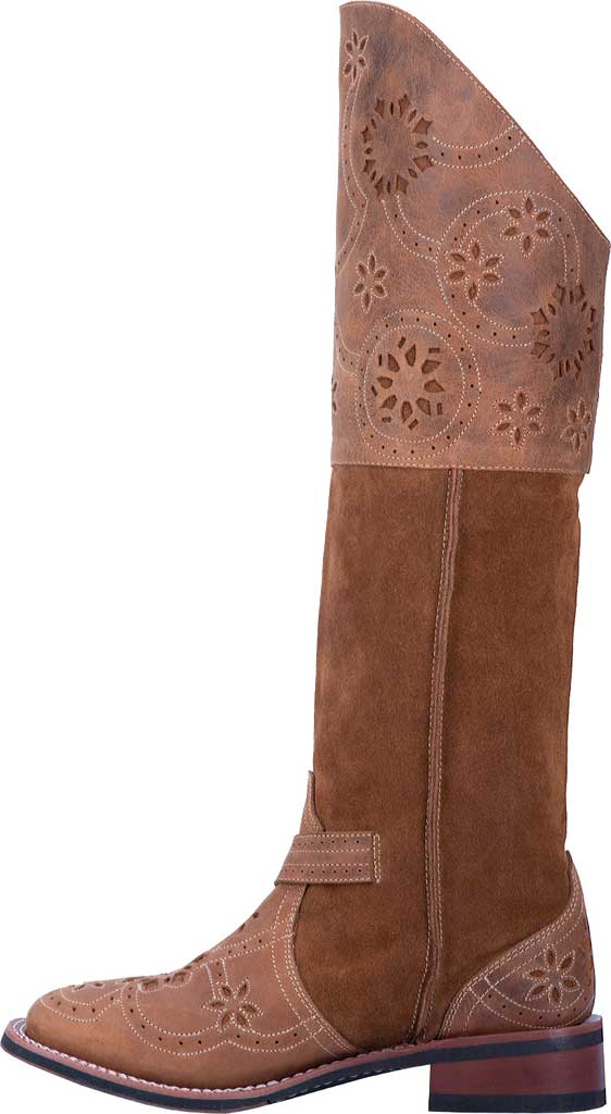 Women's Laredo Caught You Lookin' Riding Boot 5684, Tan Leather/Suede, large, image 3