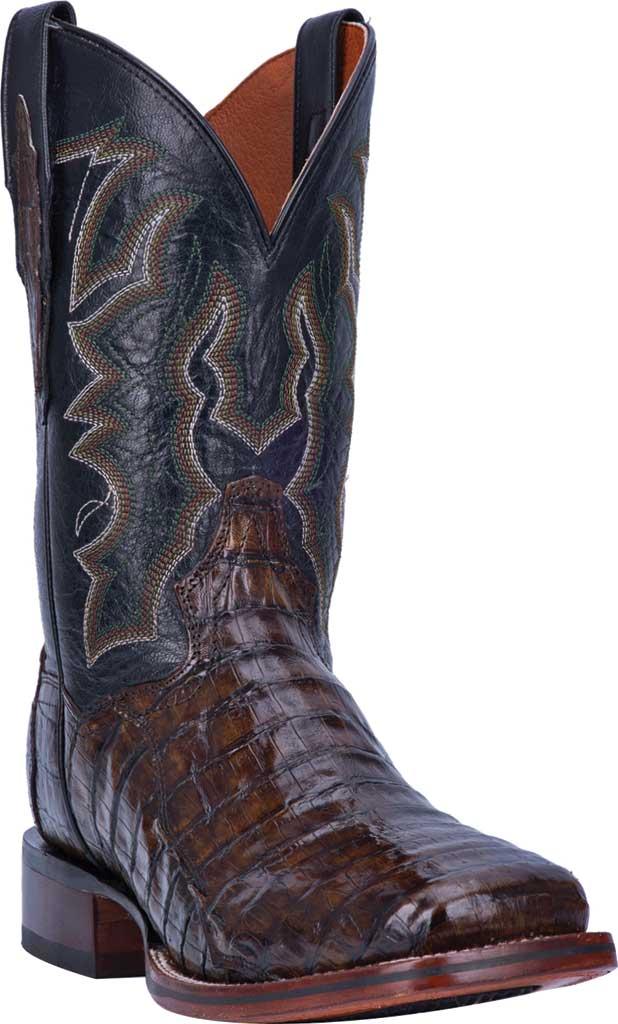 Men's Dan Post Boots Kingsly Cowboy Boot DP4860, Everglades/Brown Genuine Caiman Skin, large, image 1