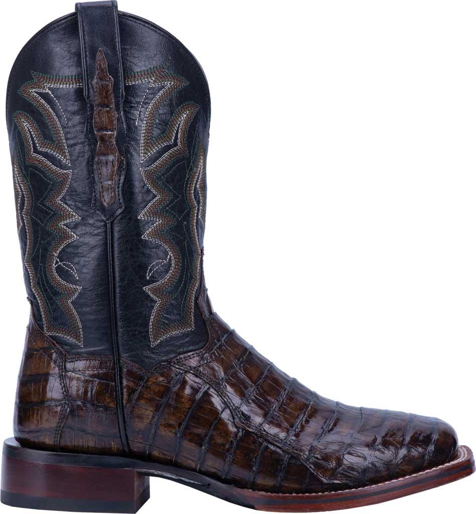 Men's Dan Post Boots Kingsly Cowboy Boot DP4860, Everglades/Brown Genuine Caiman Skin, large, image 2