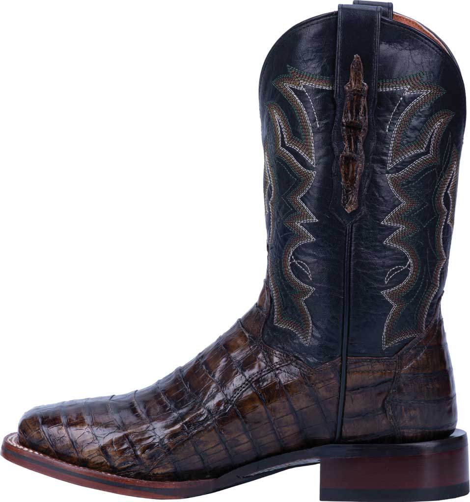 Men's Dan Post Boots Kingsly Cowboy Boot DP4860, Everglades/Brown Genuine Caiman Skin, large, image 3